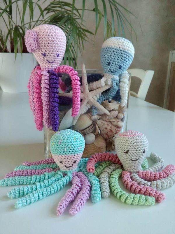 tuto tricot tricotin doudou pieuvre