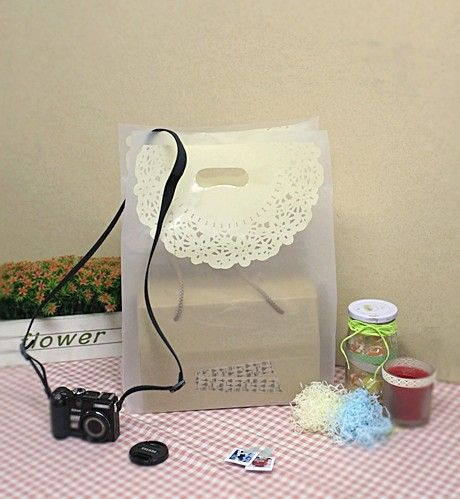 20 Lace Doily Printing HD Bags - 310 x 500mm(H)