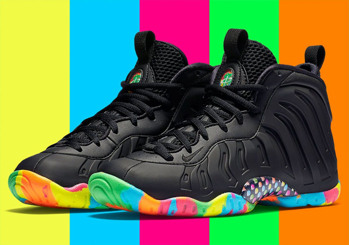 free shipping 263d9 cab15 ... coupon for nike presents a sequel to last years fruity pebbles  foamposite 6495c 9435b