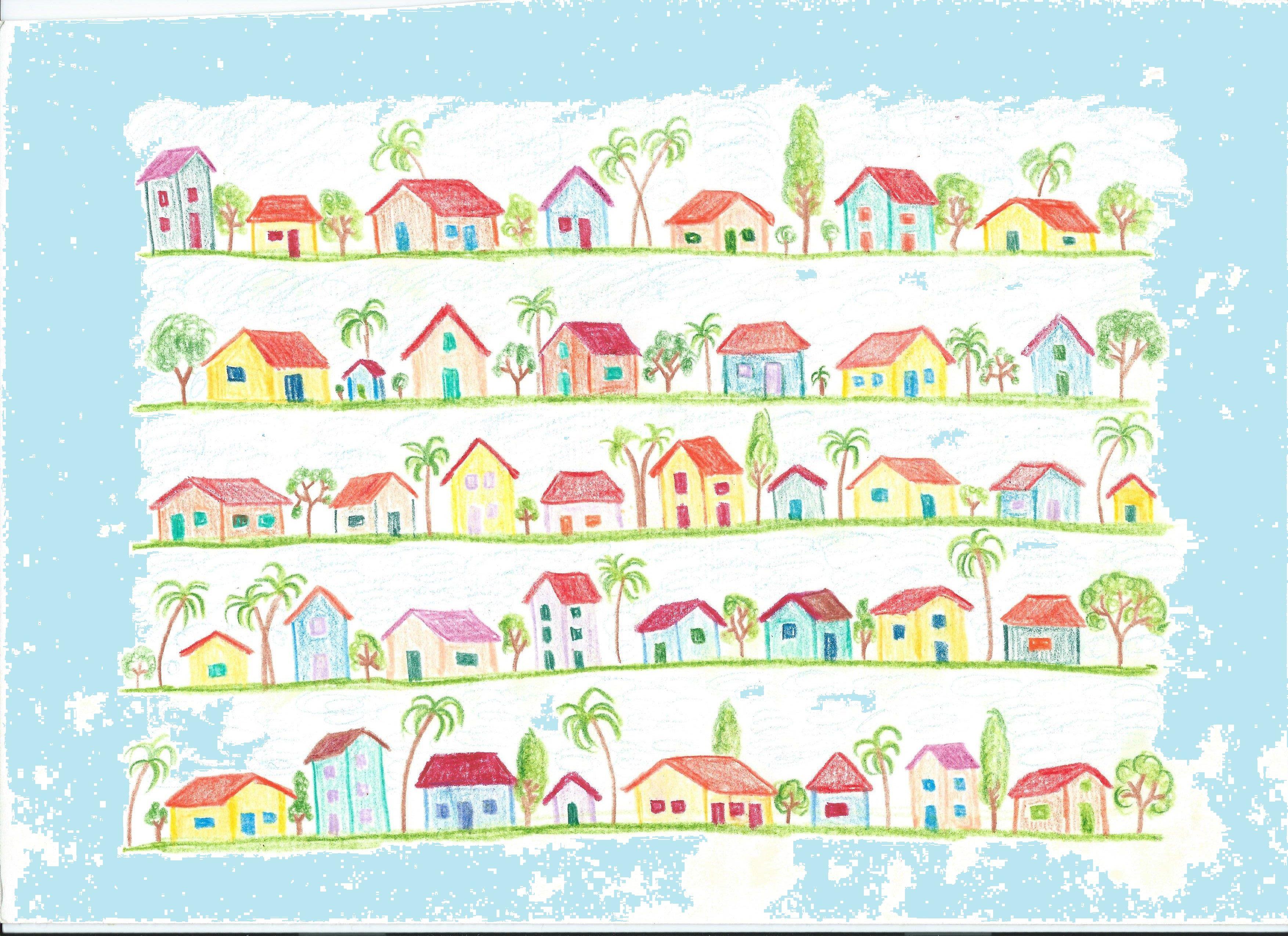 quadro - lápis de cor sobre papel