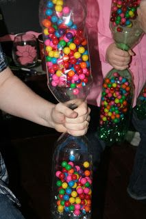 Baby Rattle Game 400 Gumballs In Each 1 Litre Bottle