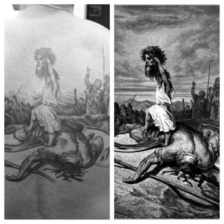 David vs Goliath David vs goliath, Black and grey