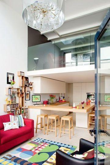 Cuisine ouverte sur la salle à manger  50 idées gagnantes Glass - idee bar cuisine ouverte