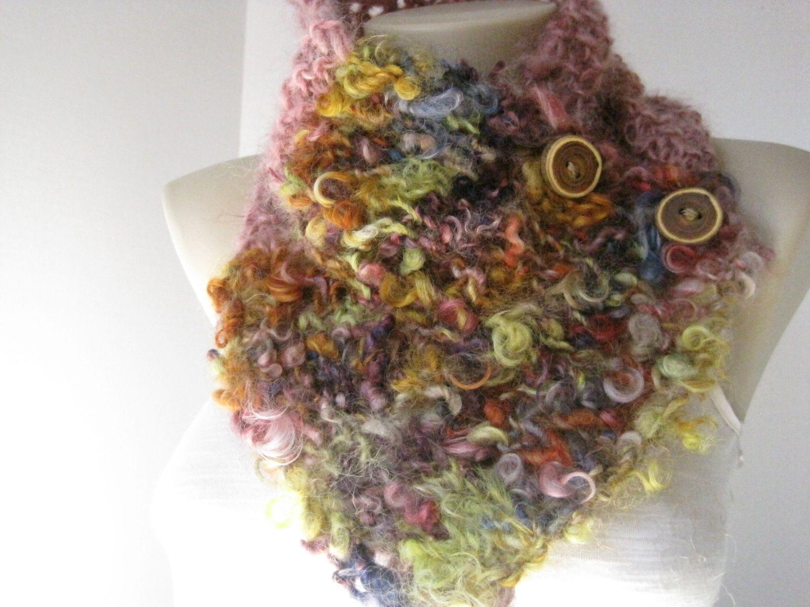 Art yarn - wool and mohair locks
