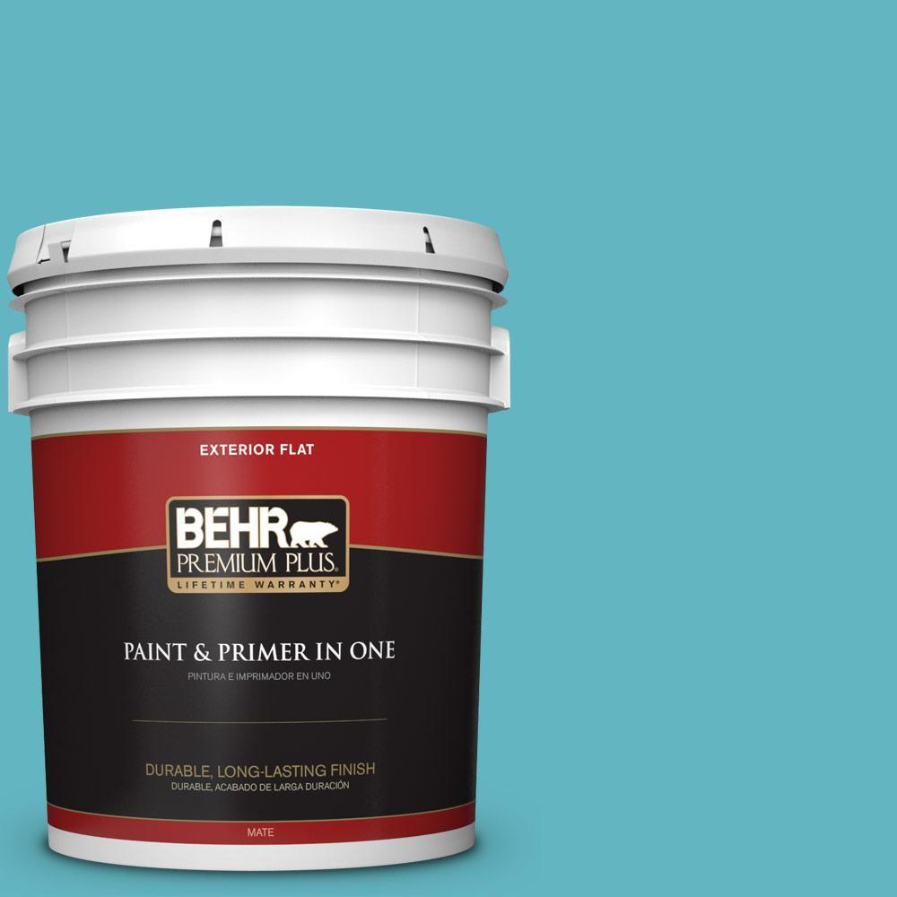Behr Premium Plus 5 Gal Mq4 51 Adonis Flat Exterior Paint And Primer In One Interior Paint Patio Flooring Exterior Paint