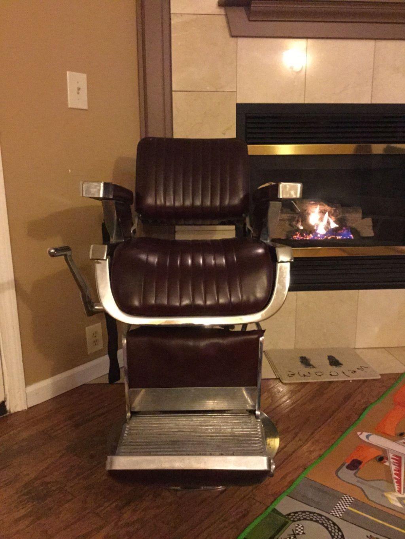 Antique Belmont Barber Chair | eBay - Antique Belmont Barber Chair EBay Barber Shop Thingies Pinterest