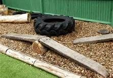 favorite - LOVE the balance beam over the log... Natural Playground Equipment - Bing Images