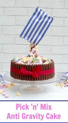 Pick 'n' Mix Anti Gravity Cake #gravitycake
