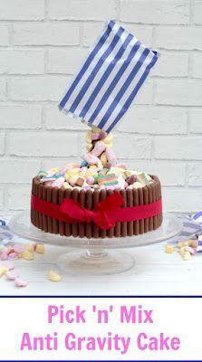 Pick 'n' Mix Anti Gravity Cake #gravitycake