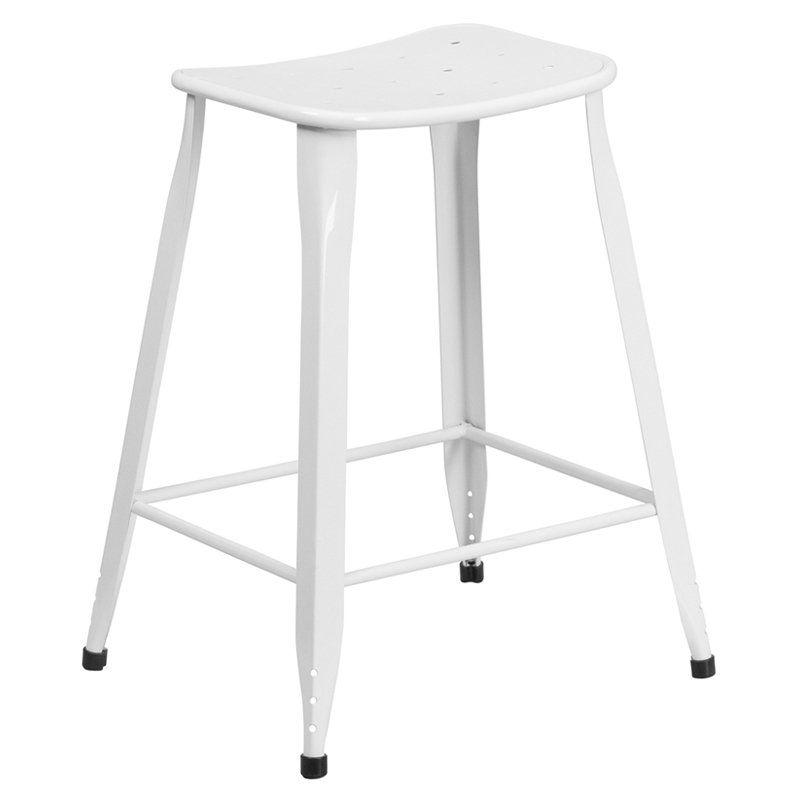Flash Furniture 24 Inhigh Metal Indooroutdoor Counter Stool Mesmerizing Walmart Kitchen Stools 2018