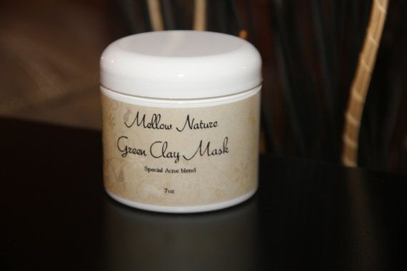 Clarifying mask ideal for acnee or rosacea by MellowNature on Etsy, $14.95