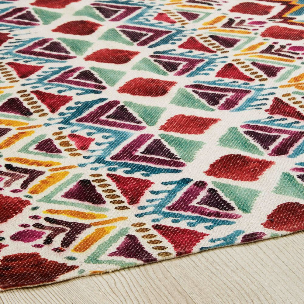 tapis imprim ethnique multicolore 80x200 for the home pinterest rugs ethnic print and. Black Bedroom Furniture Sets. Home Design Ideas