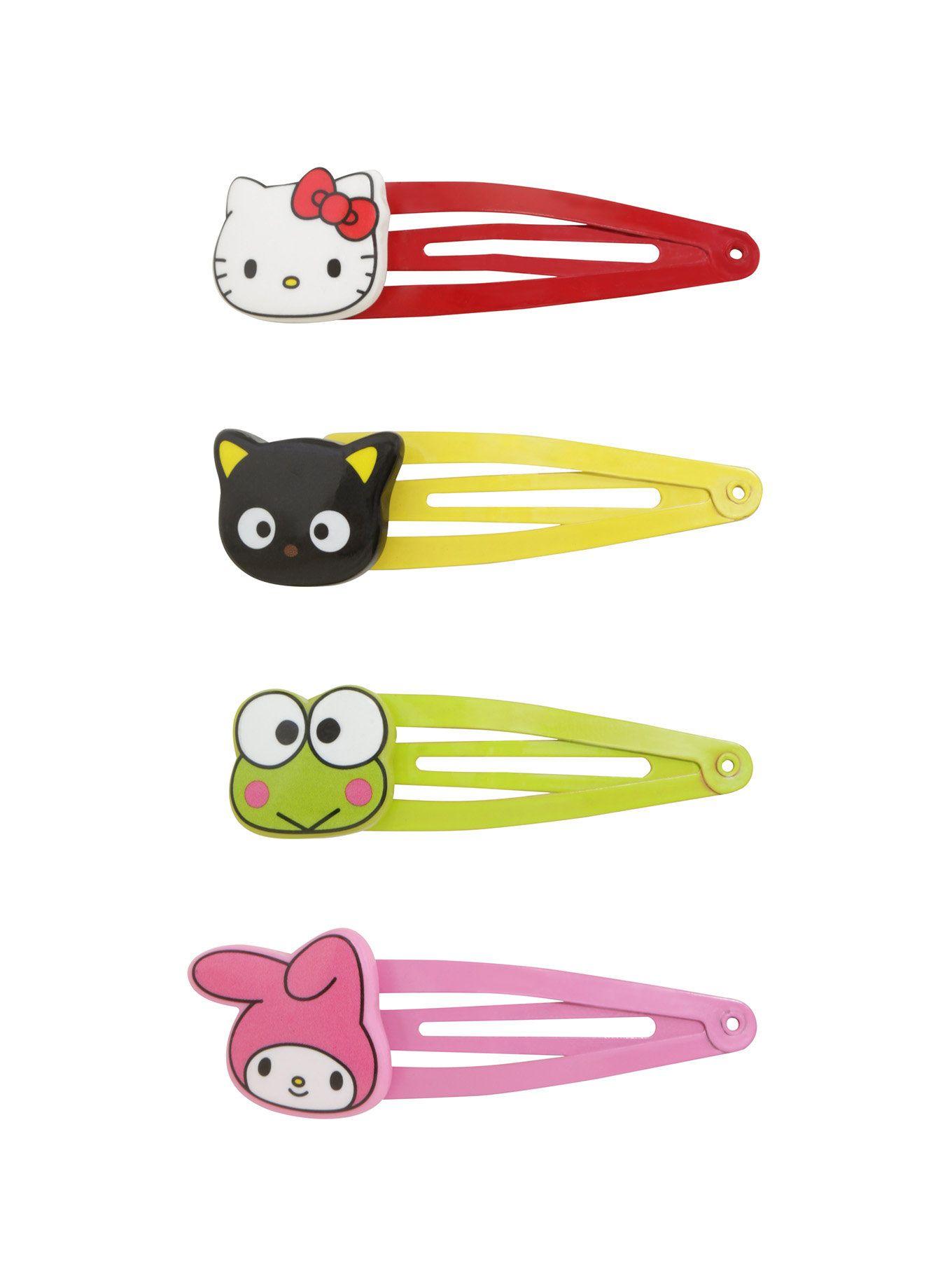 Hello Sanrio Character Hair Clip Set Hello Sanrio Characters Hello Sanrio Kawaii Hair Accessories