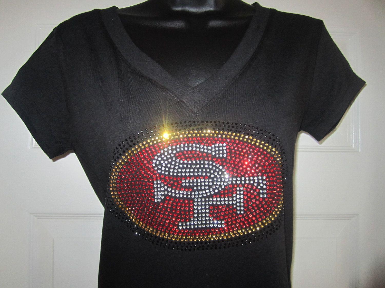NWT 49ers Fans Team Color Womens Rhinestone Bling Headbands Wear w// Jersey