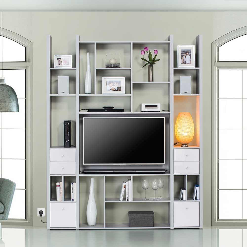 tv wand in hellgrau f cher jetzt bestellen unter. Black Bedroom Furniture Sets. Home Design Ideas