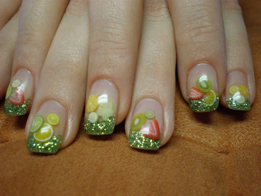 Lovely Fimo Nails For Summer