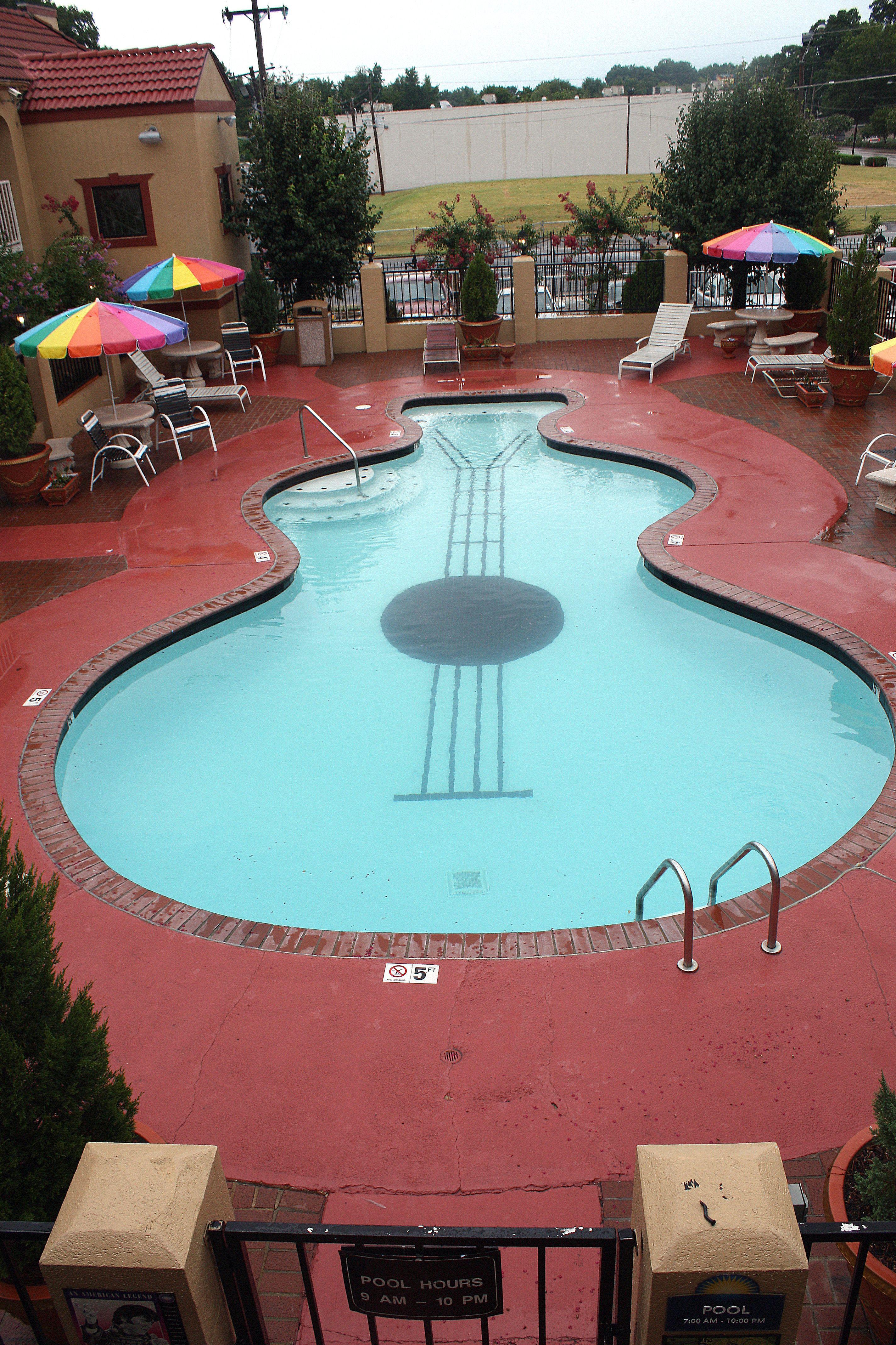 Guitar Shaped Pool At Days Inn Graceland Amazingplaces Travel