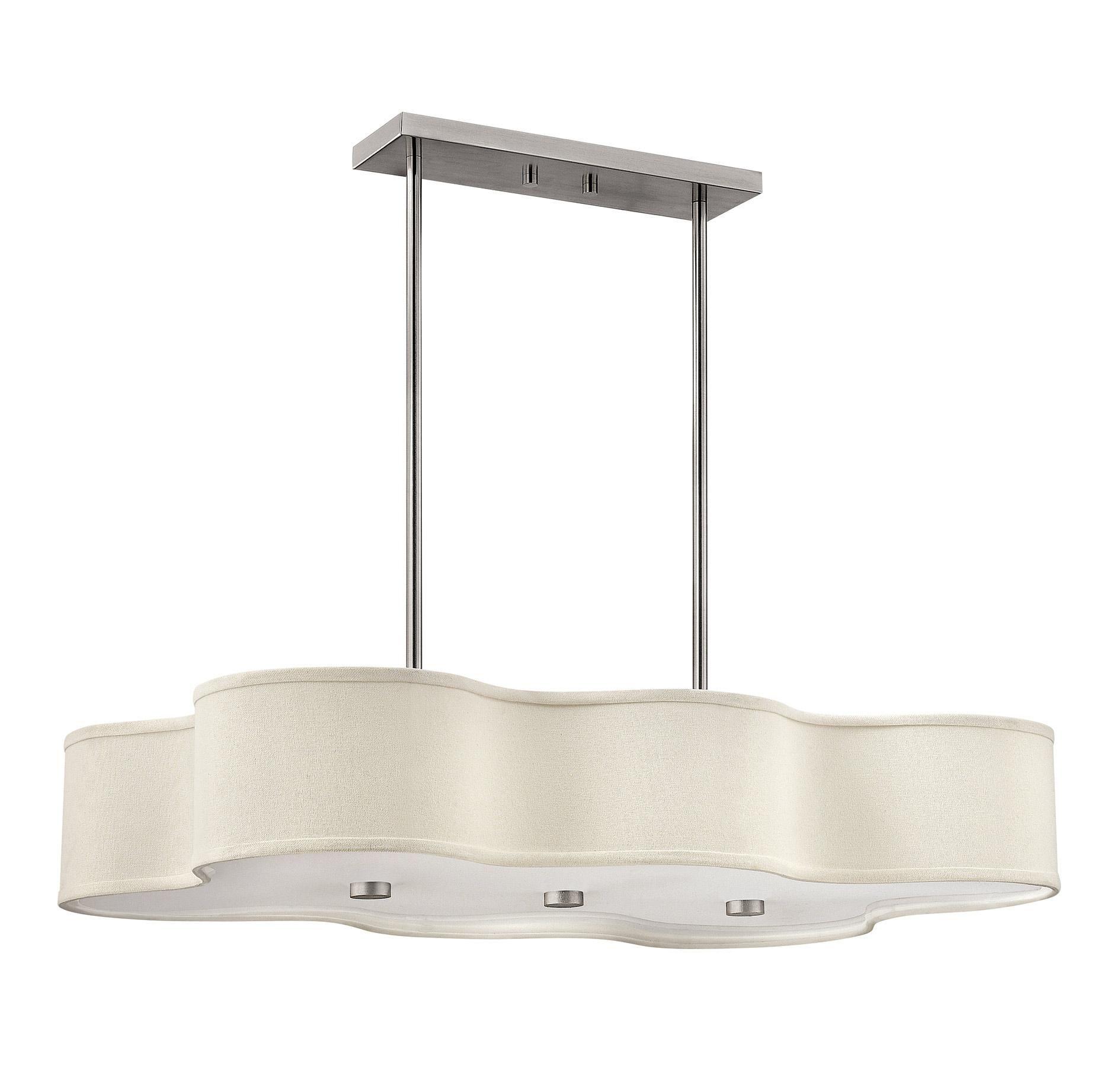 Hinkley 3802bn Cirrus 6 Lt Island Chandelier In Ceiling Lights Kitchen Island Lights Prog Outdoor Light Fixtures Chandelier Lighting Kitchen Pendant Lighting