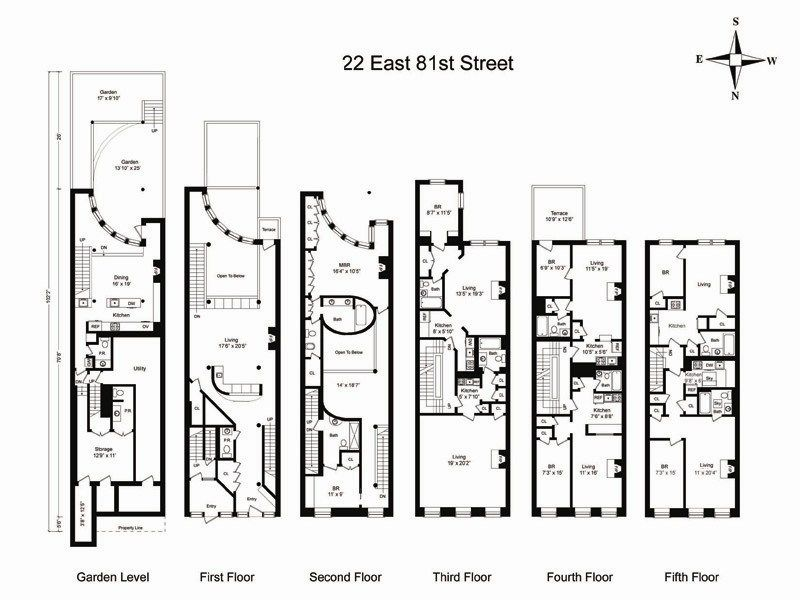 22 east 81st street. asking $15,950,000. floor plan | architecture