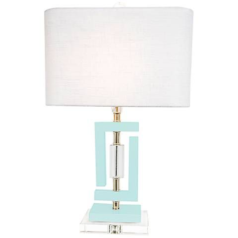 Couture Carlsbad Pale Blue Accent Table Lamp 7p094 Lamps Plus Mid Century Modern Table Lamps Lamp Accent Lamp