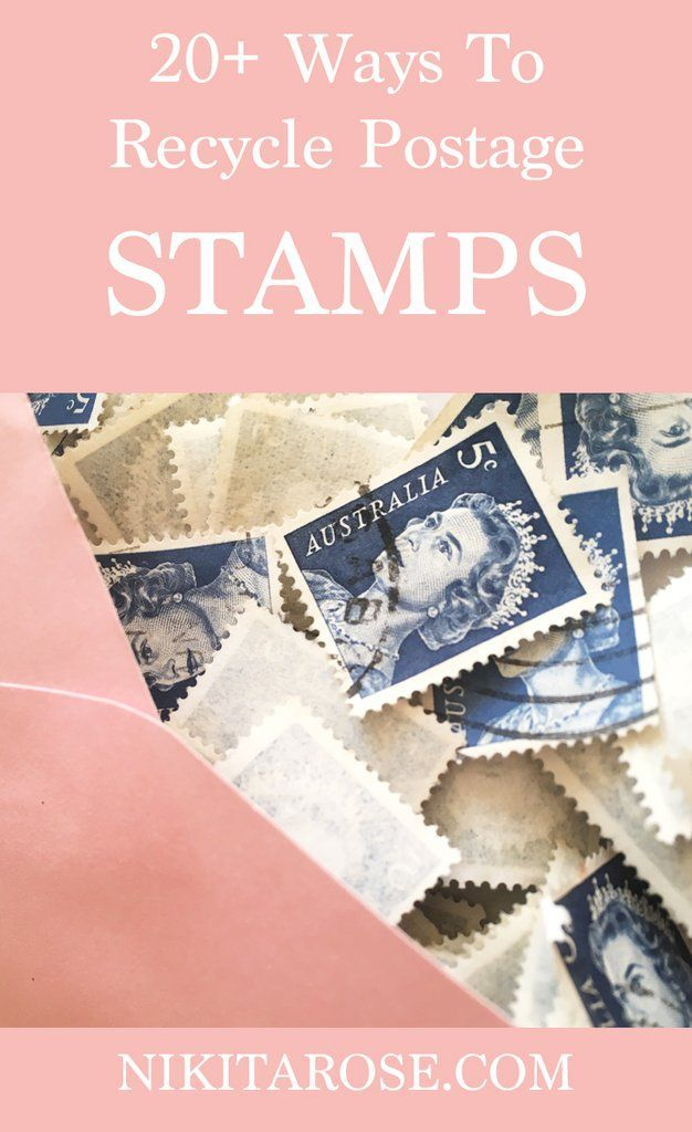 20 Ways To Recycle Postage Stamps Recycled Paper Ideas Pinterest