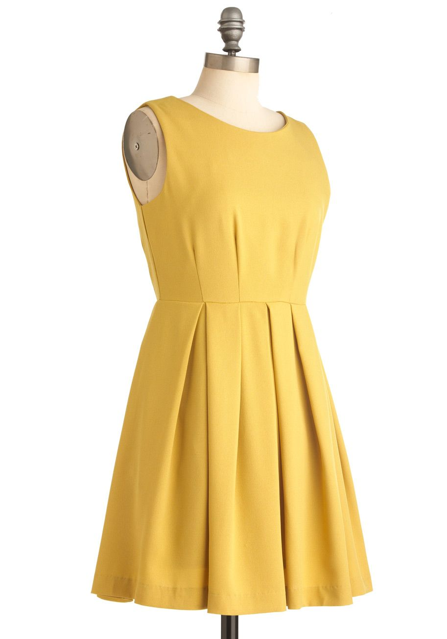 Colorful on cue aline dress pinterest yellow cocktail dresses