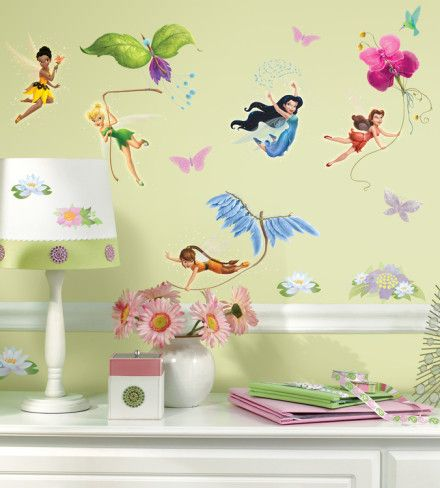 Disney Fairies Peel & Stick Wall Decals Wall Decal at AllPosters.com