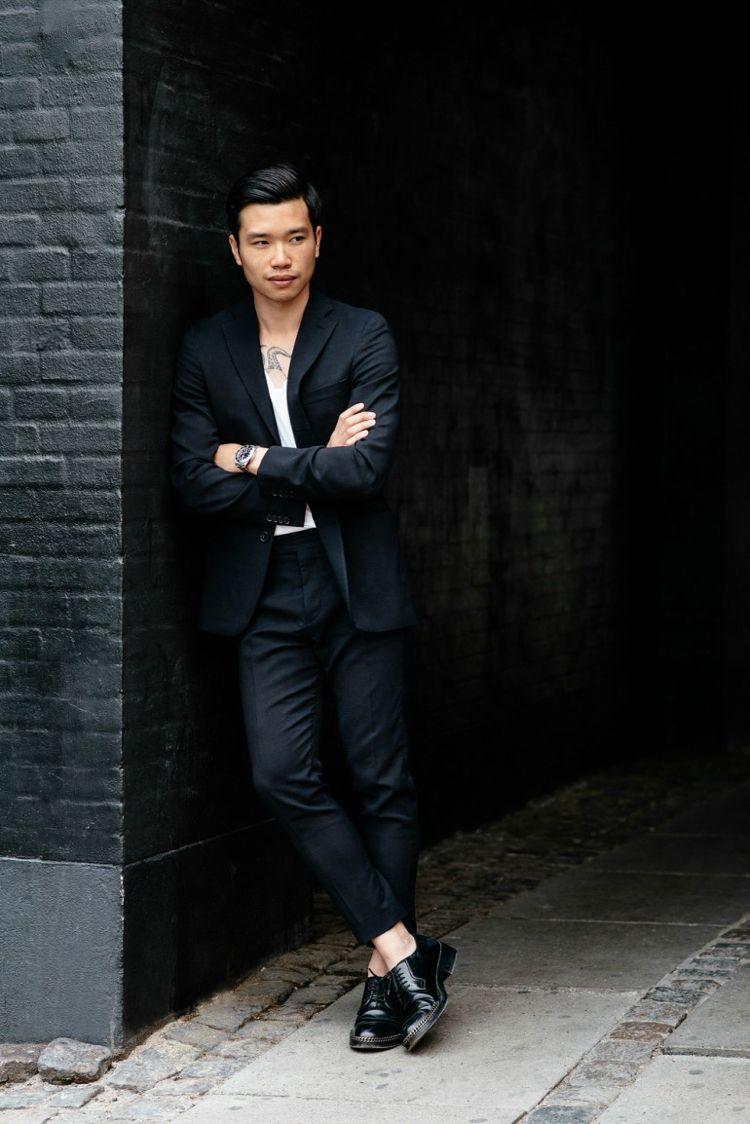 schwarzer anzug weisse bluse tshirt casual look #mode #fashion ...
