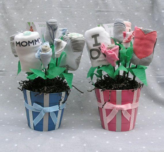 Unique Baby Shower Gift For Newborn Twins, Baby Bouquet