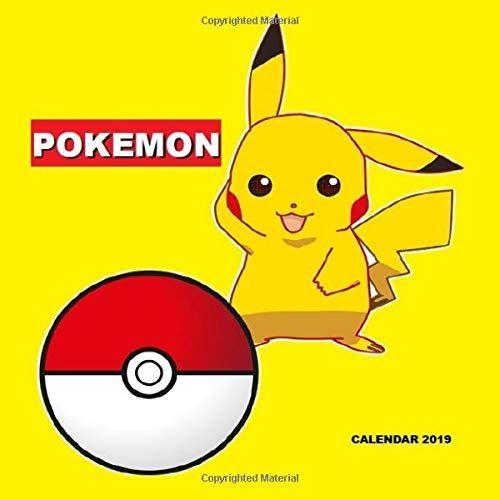Pikachu December 2019 Calendar Pokemon 2019 Calendar: Creative Calendar For School, Notes