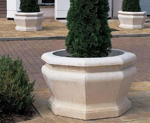 The Cast Stone Large Octagonal Jardinière Is A Large Garden Planter Which  Features Bold Ogee Mouldings.