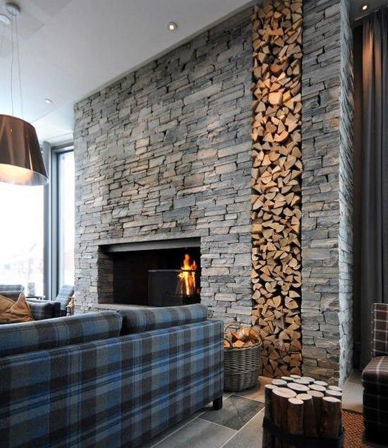 Cool Wall Ideas For Living Room: 15 Cool Stone Wall Interior Designs