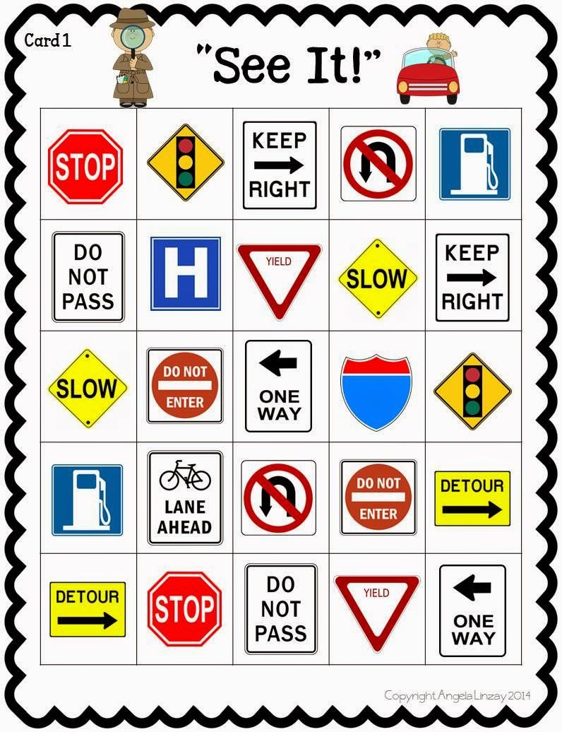 Uncategorized Safety Signs Worksheets road trip activities a fun resource street sign bingo kids in
