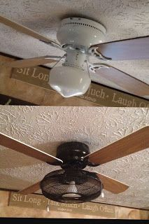 Pin By Grace On Kitchen Ceiling Fan Makeover Ceiling Fan Redo Ceiling Fan In Kitchen