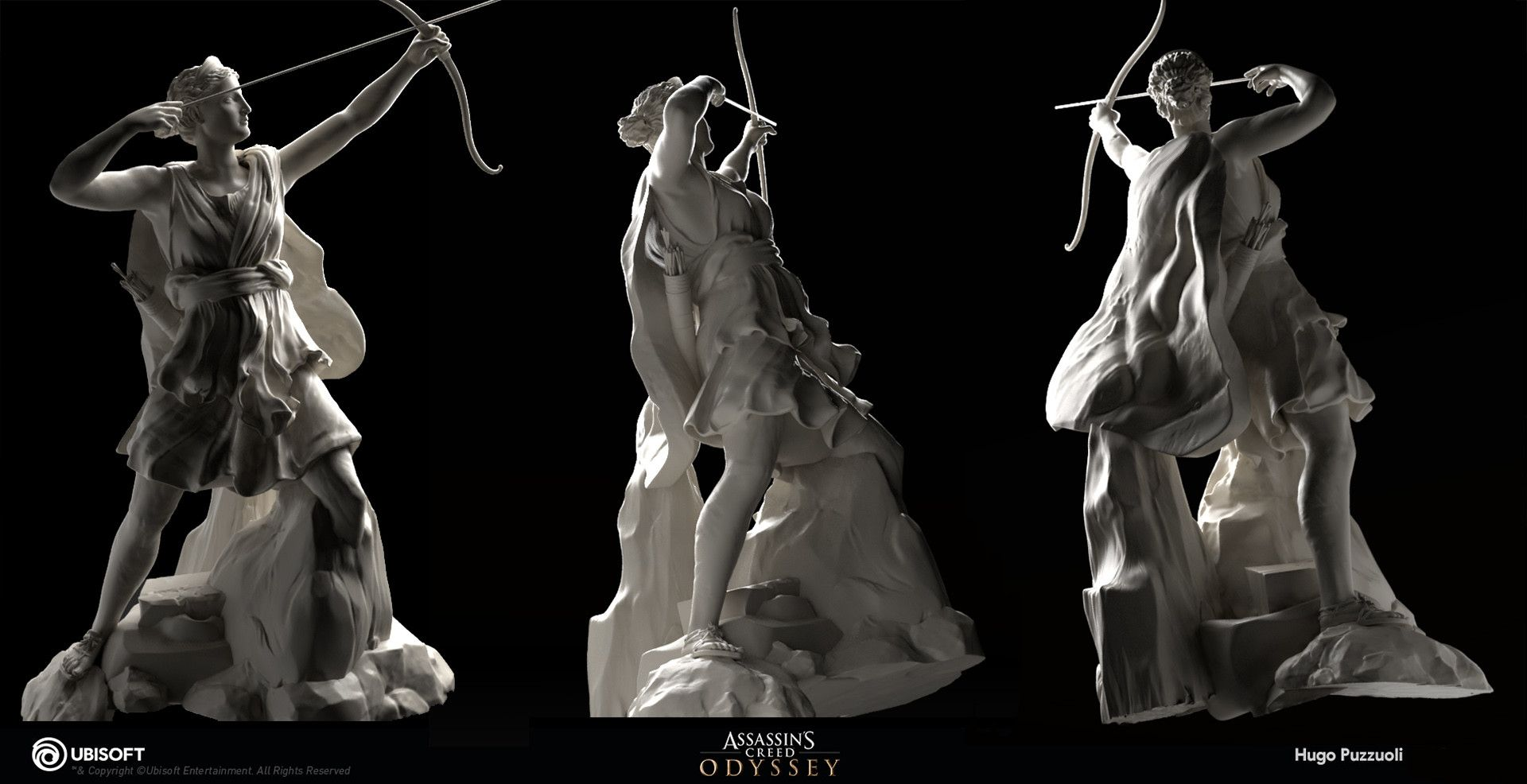 Artstation Artemis Spirit Hugo Puzzuoli Greek Artwork