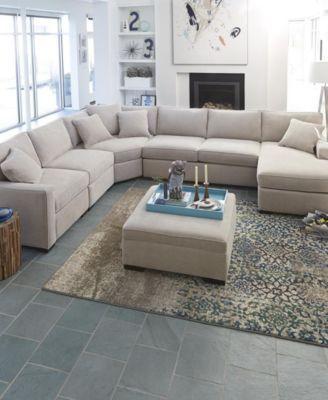 radley fabric sectional sofa living