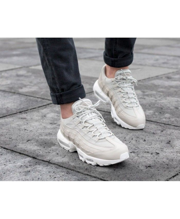 Nike Air Max 95 Essential Trainers In Pale Grey  2d3e57ff8