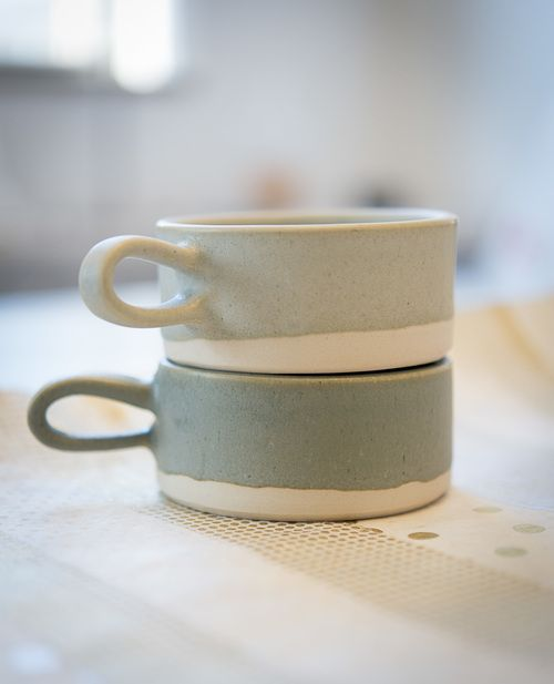 Ceramics : ceramic mugs | paper&clay for bulb design studio. - Dear Art | Leading Art & Culture Magazine & Database
