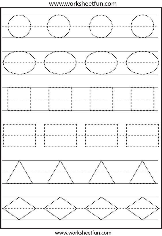 Tracing shapes. This is not the right image. The ones on the page ...