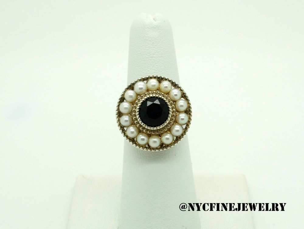 26d53f9ce Tiffany & Co. Ziegfeld Collection Black Onyx Pearl Ring in Sterling Silver  Size6 #TiffanyCo #Ring