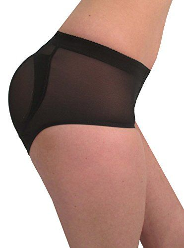 c2d7feacf 8 of Hearts Women s Shaper with Silicone Butt Pads Padded Panty Small Black  8 of Hearts