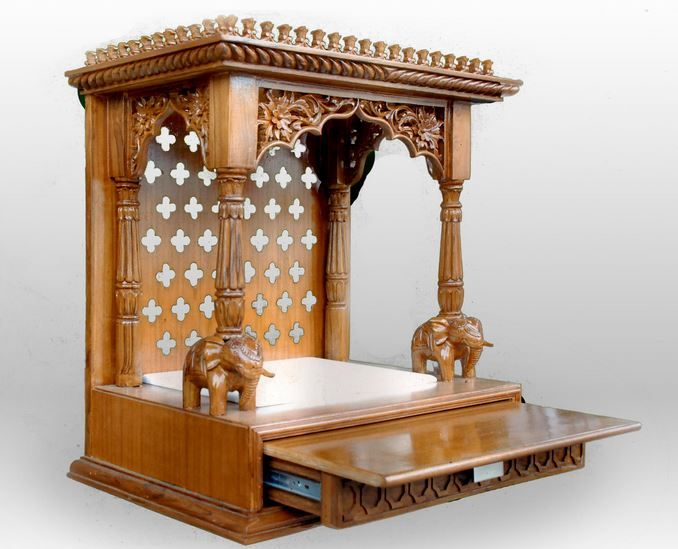 Pooja room mandir designs design for home design and for Indoor design ideas indian