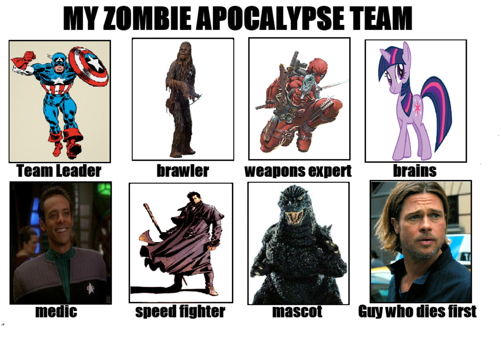 Joezilla's Zombie Apocalypse Team by Joezilla1991.deviantart.com on @deviantART