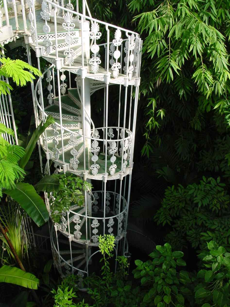 Best Gorgeous Wrought Iron Spiral Staircase Palm House Royal 400 x 300