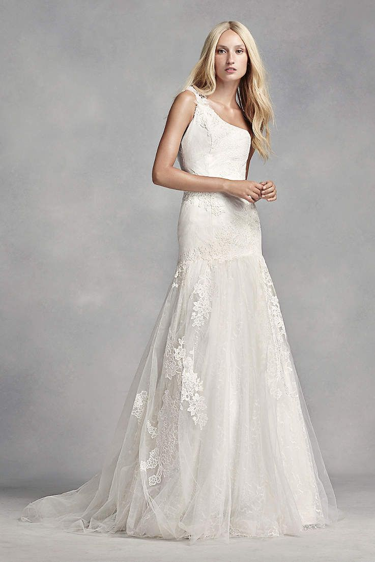 Long mermaid trumpet modern chic wedding dress white by vera wang