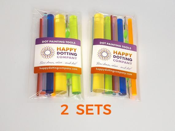 Photo of 2 Sets Double Deal Dot Painting Tools