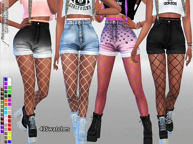 Photo of Sims 4 CC's – The Best: Fishnet Tights Accessory for Jeans a…