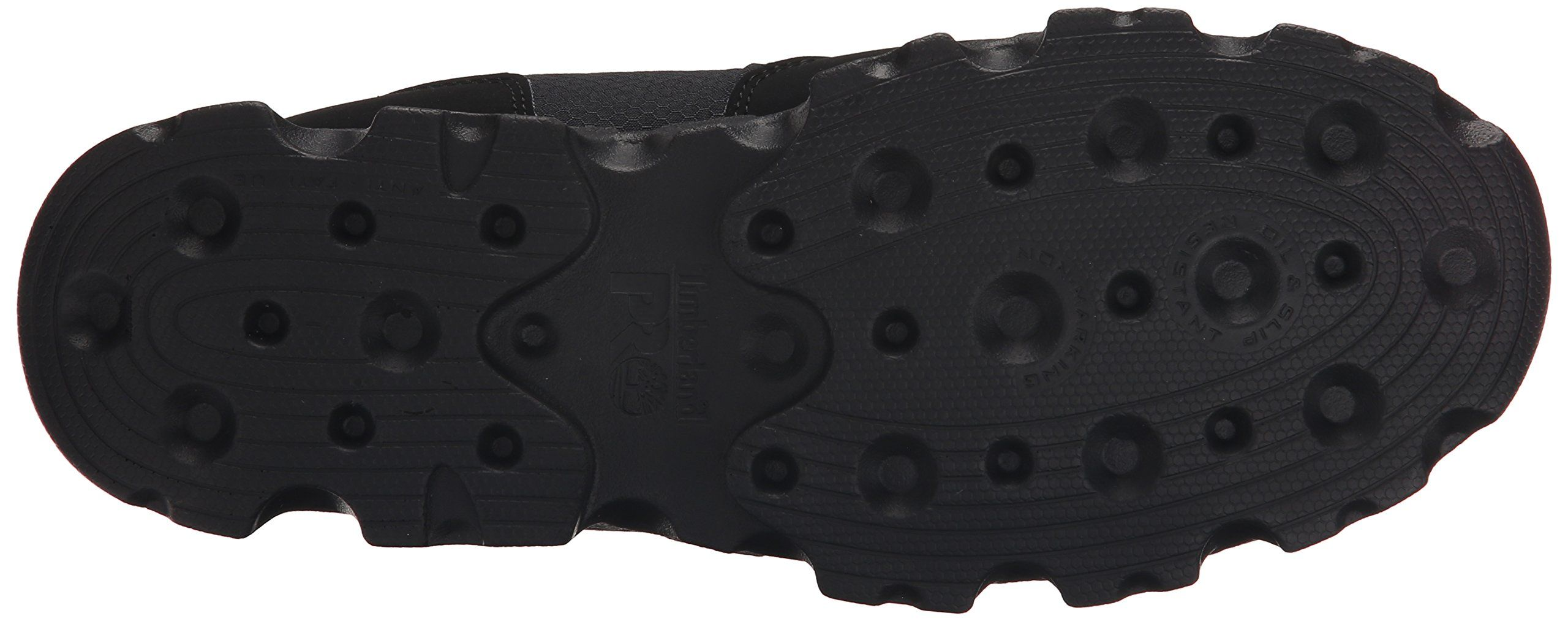 Timberland PRO Men's Powertrain Alloy Toe ESD Low Work Shoe, Black Synthetic/Ripstop Nylon, 9.5 M US