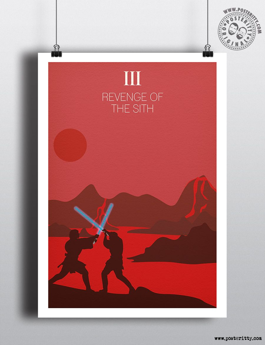Star Wars Episode Iii Revenge Of The Sith Minimalist Movie Poster Minimalist Movie Poster Movie Posters Minimalist Star Wars Poster