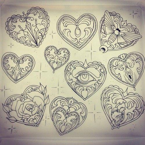 heart designs tattoo illustration pinterest tattoo. Black Bedroom Furniture Sets. Home Design Ideas
